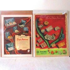Magazine ads 2 Elgen compact, lighter, cigarette cases 1950 ᵐ c2