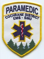Canada ON - Cochrane District Emergency Medical Services EMS SMU Paramedic Patch