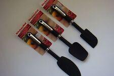 New KitchenAid Black Set of 3 Mixer* Scraper * Spoon Silicone Spatulas