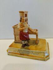 "Vintage Sebastian Miniatures ""Ben Franklin at the Printing Press� 1961"