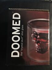 Crys Skull Head Vodka Shot Glass Fun Creative Designer Doomed Crystal Party doom