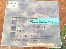 The Development of Western Music an Anthology  6 CDs at set