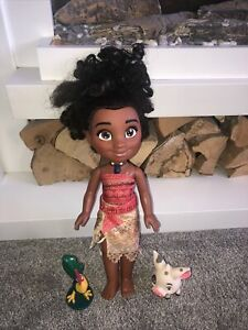Disney Moana Adventure Singing Talking Doll Light Up Necklace Pua Hei Hei Jakks