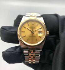 Rolex Datejust Steel & Gold Automatic Watch Ref. 16233
