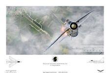 English Electric Lightning 11 Squadron RAF Binbrook. Digital Artwork Print