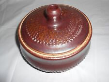 "VINTAGE EARTHENWARE STONEWARE BOWL ~ BROWN IRIDESCENT GLAZE ~ MARKED ""BONHAM"""