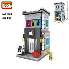 LOZ Street Apple Shop Store Figure DIY Mini Nano Building Block Diamond Toy Gift
