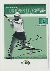 MONICA SELES SIGNED 5X7 AUTO 2005 US OPEN AUTOGRAPH PHOTO JSA STAMP OF APPROVAL