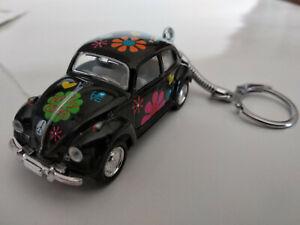 Porte clé Volkswagen cox peace and love neuf noire  longueur 6,5cm