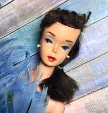 New ListingVintage Barbie #4 4 Ponytail Brunette Early Tm Solid Body And Terrific!