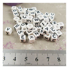 ALPHABET LETTER ACRYLIC BEADS 6mm CRAFTS CUBE BEADING JEWELLERY CHILDREN PARTY