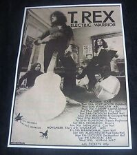 T.Rex Electric Warrior  1971 Tour Dates concert poster