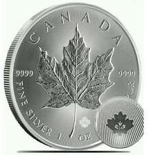 Canada 2014 $5 Maple Leaf Silver .999 1oz (UNC) with Micro Engraved Security