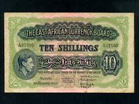 East Africa:P-29b,10 Shillings,1952 * King George VI * Last Date *