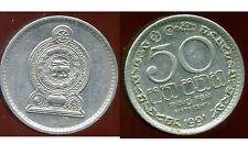 SRI LANKA  50 cents 1991  ( bis )
