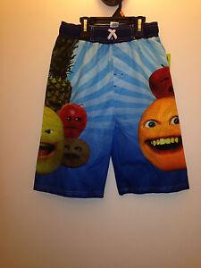 Annoying Orange boy's Swimming  tunks Large or Medium 100% polyester with string