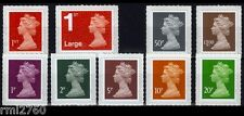 2013 MACHIN COLOUR CHANGES + M12L OVERPRINTS ON LOW VALUES SET of 9v Mint