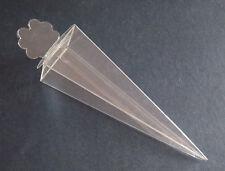 50 Coni portariso portaconfetti richiudibili trasparenti pvc SPOSI * art.2321
