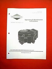BRIGGS & STRATTON V TWIN ENGINE SERIES 290000 300000 350000 380000 OWNERS MANUAL