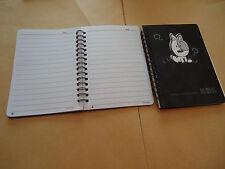 CARNET - couverture noire  - DOG - feuilles blanches avec lignes noires + date