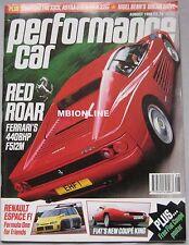 Performance Car 08/1995 featuring Ferrari F512M, Espace F1, Datsun 240Z, Fiat