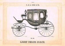 "Catalogue Advertising - Carriages by G & D Cook - ""LIGHT PERCH COACH"" - 1860"