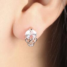 1 Pair Women Popular Charming 18K Gold Filled Skull Crystal Stud Earrings Gift