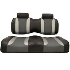 EZGO Golf Cart TXT RXV | Madjax Tsunami Seat Cushions Black Silver Grey