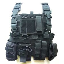 MILITARY POLICE SECURITY TACTICAL MOLLE PLATE CARRIER ASSAULT VEST 4453