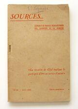 Sources n°25 - 1943 - Chantiers de la Jeunesse - Afrique française - rare