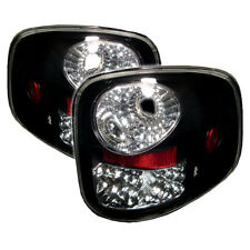 Ford 97-03 F150 Flareside Black LED Euro Style Rear Tail Lights Lamp Set