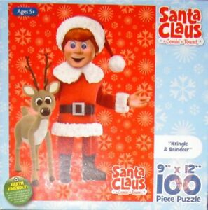 Santa Claus is Comin to Town Kringle & Reideer 100 Piece 2011 Puzzle New