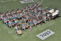 25mm napoleonic / prussian - infantry 32 figs metal painted - inf (7037)