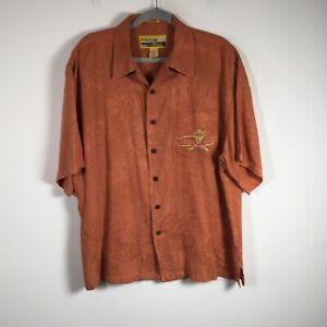 Reyn Spooner mens button up shirt size L silk oversized hawaiian aloha M Field