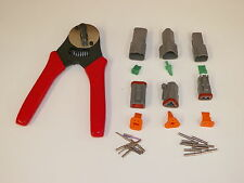 Gray Deutsch DT 2-3-4 MALE FEMALE connector kit solid terminal crimper tool