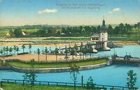 Ansichtskarte Eingang zu neuen Wehranlagen Hochablaß bei Augsburg 1915 (Nr. 787)