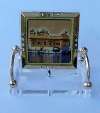 Golden Temple Darbar Sahib Ji Photo Portrait Sikh  Desktop Chair Stand A5 Singh
