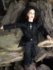 "Ozzy Osborne Doll 12"" Black Clothes Gold Cross Poseable 2002 Joks Celebrity"