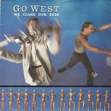 """Go West 1985 - 7"""" Vinyl 45 RPM - We Close Our Eyes / Missing Persons"""