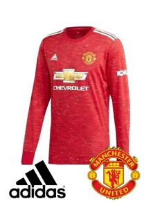 Adidas 2020-21 Manchester United Home Long Sleeve Red jersey FM4290 Mens Size XL