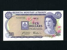 Bermuda:P-30a,10 Dollars,1978 * Queen Elizabeth II * AU-UNC * RARE DATE *