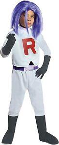 Kid's Pokemon James Team Rocket Costume SIZE M (Used)