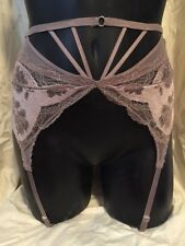 9f5fbba27 NWT Victoria s Secret Very Sexy Dusty Rose Purple Strappy Garter Belt Lace  ...