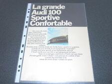 AUTO UNION brochure catalogue AUDI 100 - Edition 1968