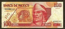 MEXICO 100 pesos 6-5-1994 P108a VF Nezahualcoyotl / statue