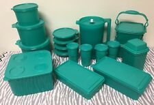 Tupperware Lot of Kitchen Essentials Teal / Green Set of 19 Pitcher Cereal Bowls