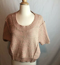 Kensie Women's Pullover Sweter Pink Semi Cropped Size M