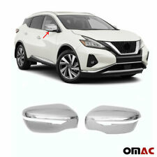 Fits Nissan Murano 2015-2020 Chrome Side Mirror Cover Cap 2 Pcs