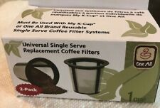 Keurig, Cuisinart, Universal Single Serve Replacement Filters 1 case:12/2-pack