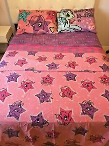 """My Little Pony 4 Piece Full Sheet Set """"The Stars Are Out"""""""